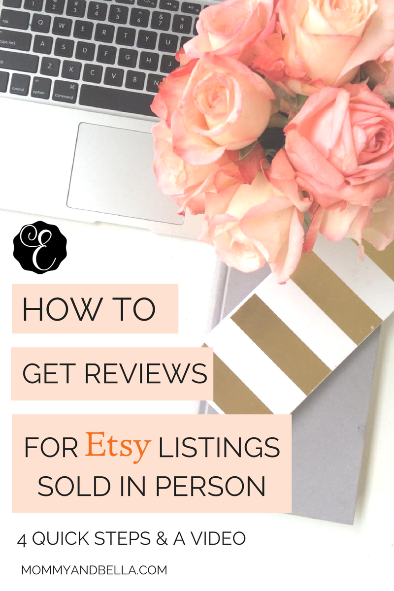 HOW TO Get Reviews For Etsy Listings Sold In Person - Etsy Seller Tutorial